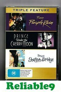 Prince - Purple rain+Under The Cherry Moon+Graffiti Bridge 3DVD Sealed Australia