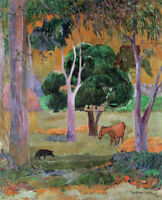 Dominican Landscape Paul Gauguin Fine Art Print on Canvas HQ Giclee Poster Small