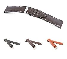 """RIOS1931 Buffalo Leather Watch Band """"Montana"""", 18-22 mm, 3 colors, new!"""