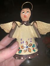 Handmade, Hand Painted Angel Vintage Christmas Ornament ~ Made in Mexico