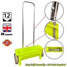 More details for plastic garden lawn seed spreader fertiliser wheels outdoor feed weed grass 12l