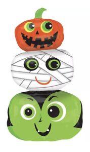 Halloween Pumpkin HeadsJumbo Super Shape Foil Mylar Balloon Party Supply  Decor