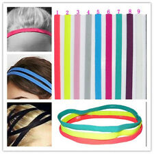 10Pcs Women Man Stretch Elastic Anti-Slip Sport Headband Running/Tennis/Yoga