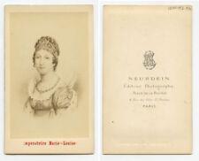 CDV PORTRAIT IMPERATRICE MARIE-LOUISE, DUTCHESS PARMA, NEURDEIN LOGO BACK, PARIS