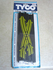 """New Tyco Lane Change Cossover Track  2x NOS Race 9"""" Electric slot car 6717"""