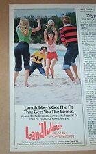 1977 vintage print ad - Landlubber Jeans fashion CUTE Girls beach volleyball AD