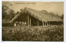 Kachin House Tribes of Burma 1912 postcard