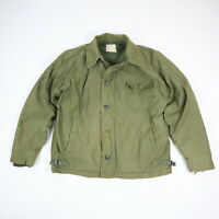Vintage 70's Military A-2 Style Cold Weather Jacket Faded Green Distressed LARGE