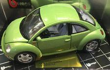1998 Volkswagen New Beetle Amarillo 1:18 Bburago 12021