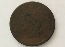 18xx Braided Hair Liberty Head Large One Cent Great Type U. S. Coin A3053