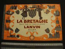 """album  ancien    N°  5     -  LANVIN   """"  LA  BRETAGNE   """""""