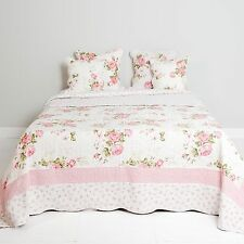Clayre Eef Copriletto Trapunta Plaid Shabby Cottage In Stile Roses 180x260cm
