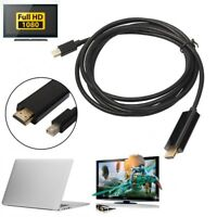 1.8m Mini DP to HDMI Adapter Male To Male Display Port Cable For Macbook Pro D