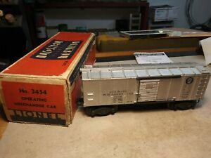 Lionel 3454 Operating Merchandise Car from 1946 with box.