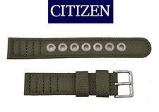 Citizen Original Eco-Drive Men's BM8180-03E Green Canvas 18mm Watch Band Strap