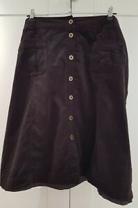 Monsoon Baby Cord Brown Skirt Size 22 button down