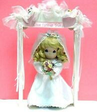 PRECIOUS MOMENTS DOLL - BRIDE WITH WEDDING ARCH