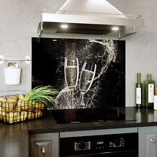 Glass Splashback Kitchen & Bathroom Panel ANY SIZE Wine Champagne Splash 0336