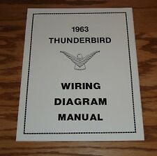 1963 Ford Thunderbird Wiring Diagram Manual 63