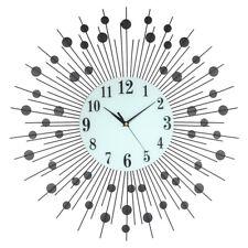 Luxury Scenic Iron Art Metal Living Room Round Diamond Home Decor Wall Clock