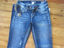 Silver Jeans Lola Mid Rise 24x33 Straight Original Fit NWT Very NICE
