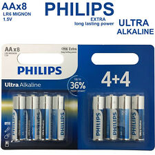 8 x PHILIPS 1.5Volt AA Ultra Power Alkaline Batteries LR03 MX2400 MN2400 MICRO