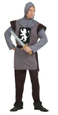Mens Royal Knight Medieval Soldier Crusader Lion Heart Costume Outfit New M/L