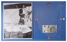 Alessandro Passaleva aereo Savoia Marchetti duce fascismo quadro cornice vetro