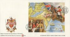 GUERNSEY MAJOR GENERAL SIR ISAAC BROCK 1996 FIRST DAY COVER - NO ADDRESS