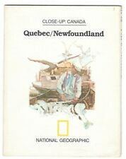QUEBEC NEWFOUNDLAND CANADA VINTAGE NATIONAL GEOGRAPHIC MAP Wall Poster M1