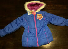 Girls Disney Frozen Puffer Winter Coat /Jacket Size 5 Anna & Elsa Blue