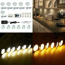 6 Pack LED Wireless Puck Light Remote Control Warm White Under Cabinet Puck Bulb