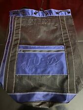 Vintage TUSA DIVER SCUBA FANATIC Mesh Backpack Diving equipment bag Navy Blue