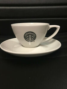 STARBUCKS COFFEE Original  FLAT WHITE Cup / Mug with Saucer Collectable