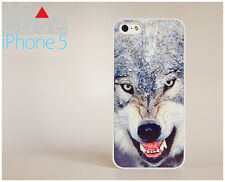 Stylish iPhone 5 CASE CUSTOM DESIGN hipster Wolf in Winter