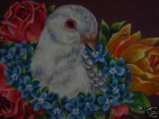 Valentine Dove bird Victorian Rose print