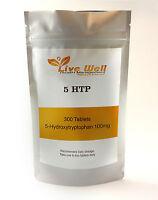 5-HTP Afrikanische Schwarzbohne Kerne Extrakt 100mg Tabletten, UK Herstellung