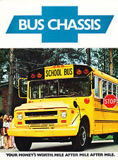 1976 Chevrolet School Bus Chassis Sales Brochure Chevy