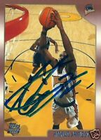 Antawn Jamison Signed Auto 1998-99 Topps Golden State Warriors Rookie RC Card