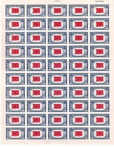 United States Scott # 918 Albania Overrun Countries Issue Uncut Stamp Sheet MNH