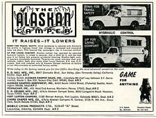 1971 small Print Ad of The Alaskan Camper Pickup Truck Bed game for anything