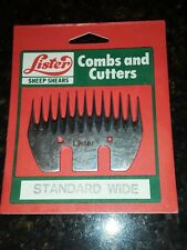 New Lister Sheep Shears Standard Wide Blade 13 Point Combs and Cutters