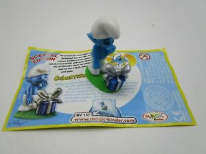 MS: Variante   Schlümpfe   GEBURTSTAGSSCHLUMPF blaues Geschenk   + BPZ!!!