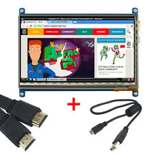 Display Raspberry PI 2/3 7-inch LCD capacitive touch screen +HDMI line +USB line