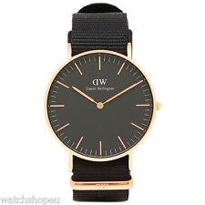 Nuevo DW00100150 Negro Reloj Daniel Wellington Cornwall 36M - 2 Año De Garantía