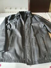 Mens black leather jacket small from Next