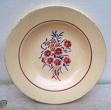 Piatto antica vintage, decorazione floreale, Francese arte popolare savoia