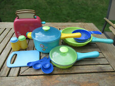 Kids Play Kitchen Saucepan Cooking Set and toaster