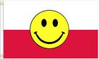 Poland Happy Face Polyester Flag