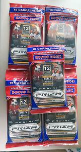 Panini Prizm 2020 Football 5 Sealed Cello Retail Packs Red White Blue Bonus Lot
